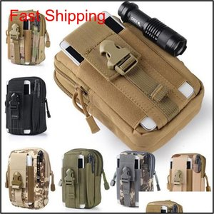 Sports & Outdoors Drop Delivery 2021 Outdoor Camping Hiking Bags Tactical Backpacks Molle Pouch Belt Loops Waist Bag Case For Phone Smartphon