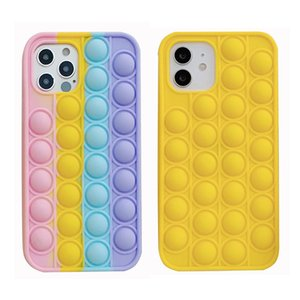 Colorful Yellow 2colors Silicone Gel Decompression Phone Cases Fuuny Back Cover Case for IP 12 Pro Max 11 XS XR DHL ARS2366