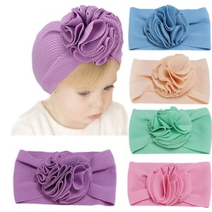 Kids Newborn Flower Solid Headband Baby Elastic Hair Accessories Hairband Fashion Turban Headwear Bandage on Head Bands