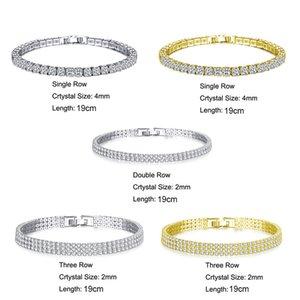 Braccialetto della catena di tennis ghiacciata del braccialetto del braccialetto dell'anca hip hop del braccialetto dei monili dell'anca dell hip-hop del braccialetto di cristallo del braccialetto del braccialetto di cristallo