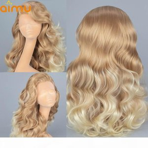 Deep Part Body Wave Ombre Blonde Human Hair Wigs Pre Plucked Hd Transparent 13x6 Lace Frontal Wigs For Women Remy Brazilian Full