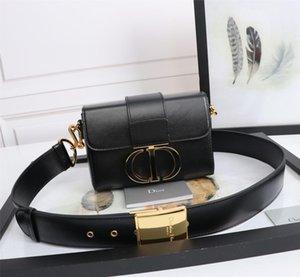 Dior designer luxury handbag mletter print women's messenger bag chain bag ten font PU leather high quality Wallet Clutch
