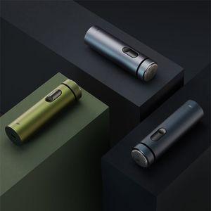 Original Xiaomi Youpin Smate Electric Shaver Portable Men's Razor Beard Trimmer Olive Green & Gray Color Screen Shavers Washable Beard-Trimmers