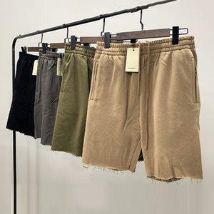 5 Colors Mens Pants Designer Summer Shorts Kanye West Terry Drawstring Hip Hop Loose Casual Fashion High Street