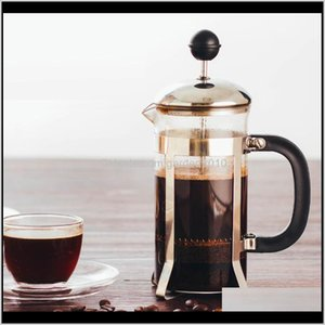Sets 350Ml Household French Press Stainless Steel Portable Tea Filter Hand Flushing Kettles Coffee Pot S5Qsi Vnlpc