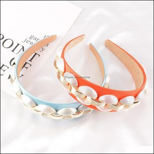 Headbands Jewelry Jewelry Hair Aessories For Women Wide Side Satin Headband Pearl Alloy Fashion Hairband Individuality Turban Adt Drop Deliv