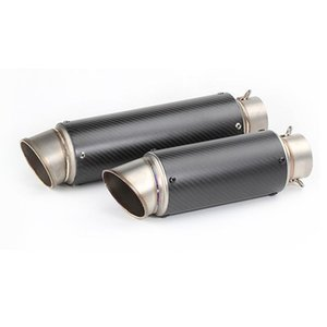 51mm 60mm Motorcycle Exhaust Pipe Motoproject Moto Muffler Carbon Fiber For R1200GS R1 R3 R25 ER6N Left Right System