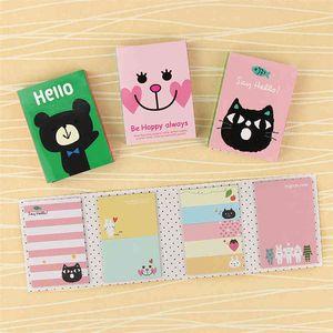 Kawaii 4 Folding Pad 1 PC Sticky Notes Memo Notepad Bookmark Gift Stationery cute sticker U8D5