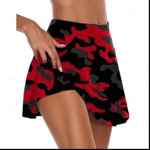 Waist 1 High Women 2 In Womens Sport Shorts Skorts Camouflage Pleated Golf Skirts with X7YA Drop Good Quality