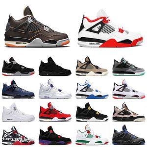 4 أحذية رجالي كرة السلة 4 ثانية نجم البحر 2021 النار الأحمر بارد رمادي أسود القط الرجال المدرب الرياضة أحذية رياضية