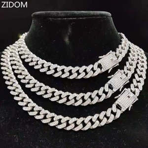 Chains Men Women Hip Hop Iced Out Bling Chain Necklace High Quality 13mm Width Miami Cuban HipHop Necklaces Fashion Jewelry
