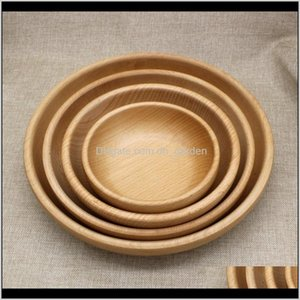 Dishes Plates Fruit Kitchen Service Wood Dining Sushi Platter Dish Dessert Plate Tea Server Tray Wooden Cup Holder Pad Dbc Xcyvf 9I6W2