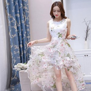 Women Dresses Dress Summer elegant Organza Floral Print Wedding Ball Prom Gown Princess Party Night