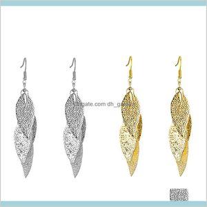 Dangle Chandelier Earrings Jewelry Selling Metal Leaf Tassel Earring Ear Stud Drop Delivery 2021 Uv8Hm