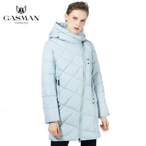 GASMAN 2021 Kadınlar Neer Moda Jas Kapşonlu Sıcak Parka Kış kadın Giyim Yüksek Kalite 18806