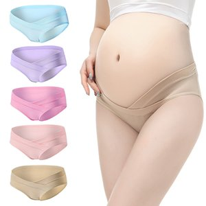YWHUANSEN Cotton Maternity Pregnant Underwear Postpartum Mother Under Bump Panties V-Shaped Soft Belly Support Panty Breathable 836 Y2