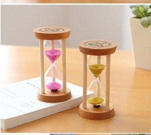Cozinha ferramentas 3 mins moldura de madeira areia de areia ampulheta de vidro contador contagem para baixo casa kitchens timer relógio ccf6022