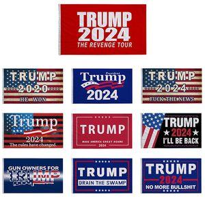 3 * 5 FT Trump Flag 2024 Bandeiras eleitorais Donald The Revenge Tour 150 * 90 cm