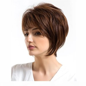 150% Density pixie cut bob wigs full lace human Hair wigs 8 inch ombre color balayage Straight Brazilian Virgin lace front human hair
