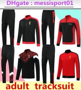 2022 AC Eşofman Yetişkin Futbol Forması Seti Tam Fermuar Survetement 21/22 Milan Ceket 2021/22 Piatek Calhanoğlu Futbol Suit