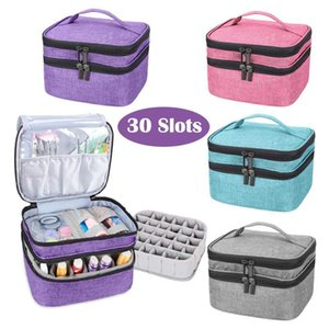 Double-Layer Nail Polish Organizer Bag Mask Cosmetic Holder Essential Oil Perfume Manicure Tools Storage Handbag Carrying Box