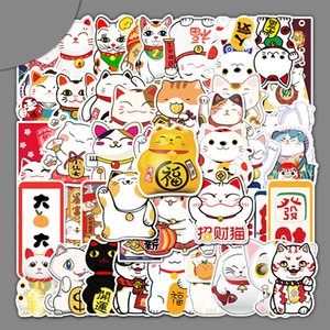 55 non-repetitive lucky cat cartoon stickers Skin Protectors computer luggage suitcase car decoration waterproof sticker Accessories