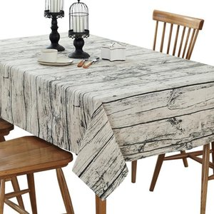 Table Cloth 22 Wood Grain Printed Cotton Sheets Towel Rice Linen Tablecloth Decorative Cover Kitchen Home Decoratio