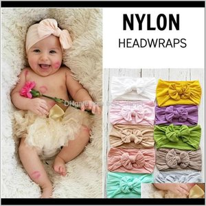 Accessories Baby Headbands 18 Colors Cute Elastic Bowknot Turban Nylon Hairband Infant Toddler Kids Girls Headwrap Pography Props Hair Pvlwg