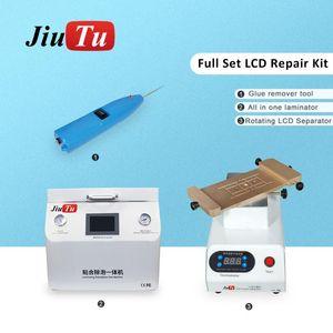 Téléphone LCD Réparation Ensemble de nettoyage de colle Séparateur rotatif et 15 pouces de 15 pouces dans une machine de stratification d'une machine courbée à remettre à neuf outil de réparation de cellules