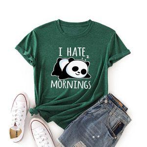 Women's T-Shirt Lovely Panda Print Plus Size Women T Shirt Cotton Shirts O Neck Short Sleeve Tees Summer TShirts Female