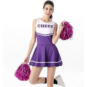 Cheerleader For Adults Cheer Girls Uniform Sexy Sports Outfits Cheerleading Dress School Girl Costume