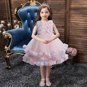 Children Princess Dress Sleeveless Flower Girl Dess Fashion Cute Princess Kids Dress Flower Children Dresses