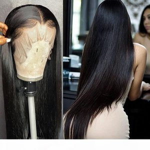 28 30 40 inch Brazilian Straight Glueless Frontal 13x4 Lace Front Human Hair Wigs Pre Plucked Virgin Human Hair For Women