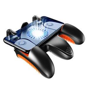 Игра Контроллеры Джойстики Мобильный контроллер Джойстик с кручевым вентилятором Телефон Кнопка Smart Metal Trigger L1 R1 Shooter