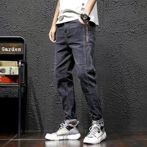 Men's Jeans 2021 Spring Autumn Smart Business Fashion Straight Regular Stretch Denim Pants Trousers Classic Men Size 28-38