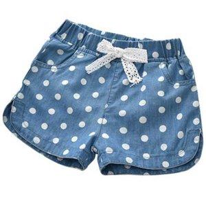 Jeans Baby Girls Shorts Polka Dot Summer Cotton Children's Kids Denim For Clothes Toddler Girl