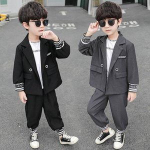 Boys Clothing Sets Boy Suit Kids Outfits Dress Spring Autumn Long Sleeve Jackets Coats Trousers Pants Business Suits 2Pcs 2-8Y B4798