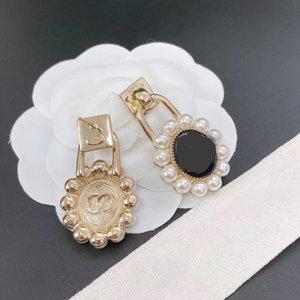Luxury Designer stud Earrings Natural Pearl zircons Earring Oval Rice Bead Earwear jewellry Gifts for Women