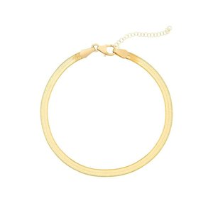 Anklets Fashionable And Simple 3mm Flat Snake Creative Anklet Circle Chain Link Summer Beach Feminine Charm Fashion Jewelry