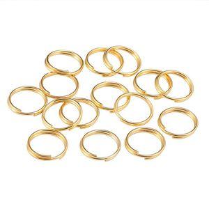 200 pz / lotto 6 8 10 12 mm Gold Open Jump anelli a doppio anelli diviso anelli diviso connettori per risultati dei monili che fanno forniture fai da te 789 T2