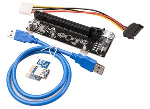 Blue Ver007s Motherboards 007s Pci-e Riser Pcie1x To16x Risers Card Adapter 60cm USB Cable For Bitcoin Mining