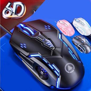 Mice Silent Click USB Wired Gaming Mouse 6 Buttons 3200DPI Mute Optical Computer Gamer For PC Laptop Notebook Game