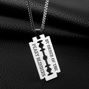 Кулон ожерелья из нержавеющей стали ожерелье из бритвы ювелирных изделий из бисера цепи парикмахера магазин тема на заказ порядок