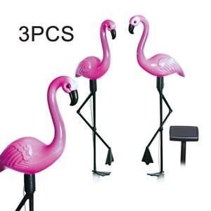 Solar Lamps 3pcs LED Garden Light Flamingo Lawn Lamp Waterproof Lights Outdoor For Decoration Parties
