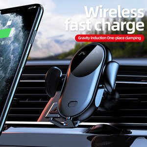 Qi Car Phone Holder Wireless Charger 360 Degree Rotation Air Vent Mount Universal fast charging