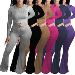 2020 Donne Abbigliamento Moda Abbigliamento Tempo libero Sport in cotone Casa manica lunga Casa Abito a maniche lunghe Pantaloni Tromba By Pants The New Elenco