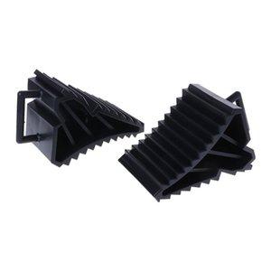 2pcs Brake Kits Car Wheel Chock With Handle Vehicle Black Stop Block for