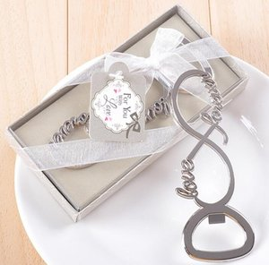 Newest forever love chrome beer bottle opener wedding favors and gifts for guests