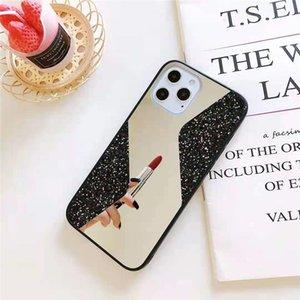 S Форма зеркала блестящий телефон чехл для телефона TPU + PC + стекло 3 в 1 мобильных телефонах чехол для iPhone 13 12 Mini 11 Pro Max X XS XR 7 8 плюс Samsung S20 S20FE S21 S21PLUS S21ULTRA DHL