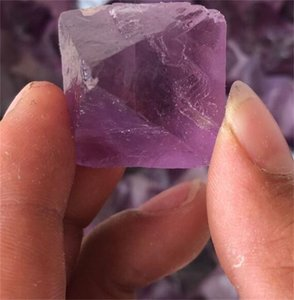 2pcs Beautiful Big size Purple and Green Fluorite Octahedron Crystals Stones Healing Stones Craft for Chakra pendant 629 S2